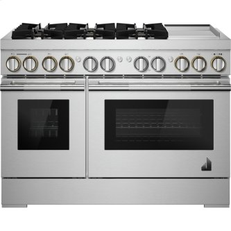 "48"" RISE(TM) Dual-Fuel Professional-Style Range with Chrome-Infused Griddle, RISE"