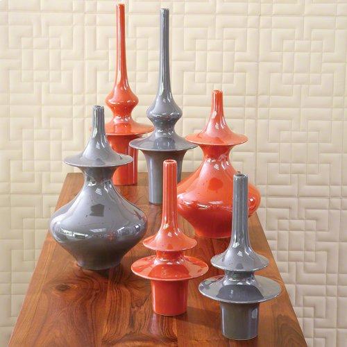 Minaret Vase-Grey-Sm