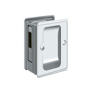 """HD Pocket Lock, Adjustable, 3 1/4""""x 2 1/4"""" Sliding Door Receiver - Polished Chrome"""