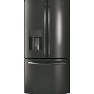 GE® ENERGY STAR® 17.5 Cu. Ft. Counter-Depth French-Door Refrigerator - BLACK STAINLESS