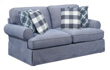 Loveseat-pool Blue #zw6391-9 W/2 Pillows #zk6007a-1 and 2 Pillows #zk6009-3