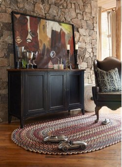 Plymouth Black Braided Rugs