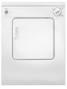 Whirlpool® 3.4 cu. ft. Compact Top Load Dryer with Flexible Installation - White-on-White