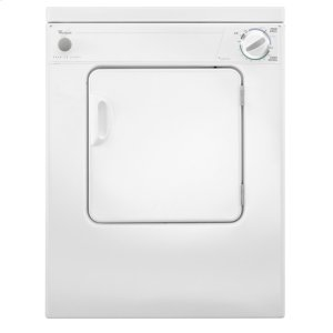 WhirlpoolWhirlpool(R) 3.4 cu. ft. Compact Top Load Dryer with Flexible Installation - White-on-White