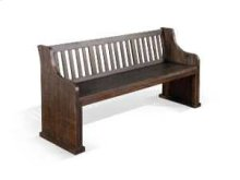Stockton Bench w/ Back w/ Wood Seat