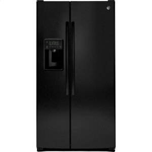 GE® ENERGY STAR® 25.3 Cu. Ft. Side-By-Side Refrigerator - BLACK