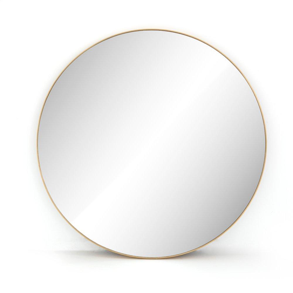 Polished Brass Finish Bellvue Round Mirror