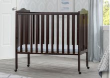 Portable Folding Crib with Mattress - Dark Chocolate (207)