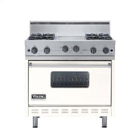 "Cotton White 36"" Open Burner Range - VGIC (36"" wide, four burners 12"" wide griddle/simmer plate)"