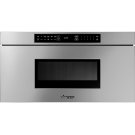 """Heritage 30"""" Microwave-In-A-Drawer, Silver Stainless Steel Product Image"""
