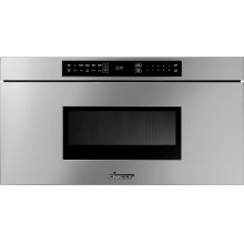 """Heritage 30"""" Microwave-In-A-Drawer, Silver Stainless Steel"""