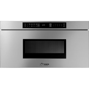 """DACORHeritage 30"""" Microwave-In-A-Drawer, Silver Stainless Steel"""