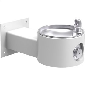 Elkay Outdoor Fountain Wall Mount, Non-Filtered Non-Refrigerated, White