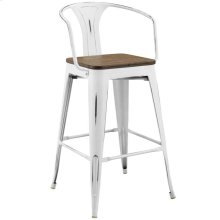 Promenade Bar Stool in White