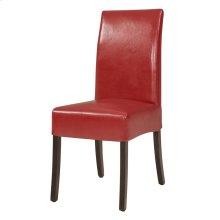Valencia BONDED Leather Chair, Red