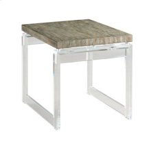Hidden Treasures Acrylic End Table