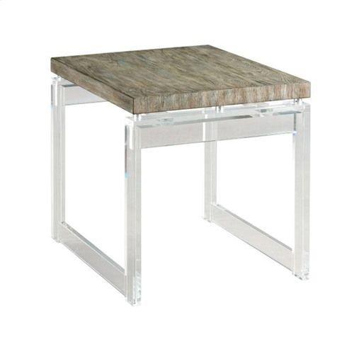 Hidden Treasures Acrylic End Table