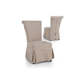 Gracie Slipcover Chair Natural 2-pack