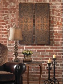 Alexia Wood Wall Panels, S/2