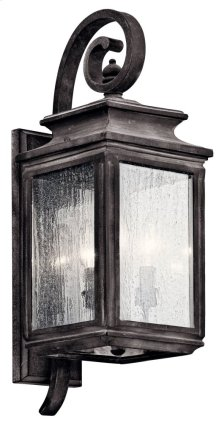 "Wiscombe Park 21.75"" 3 Light Wall Light Weathered Zinc"