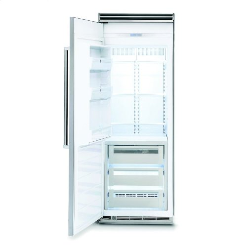 "30"" Custom Panel All Freezer, Right Hinge/Left Handle"