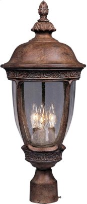 Knob Hill Cast 3-Light Outdoor Pole/Post Lantern