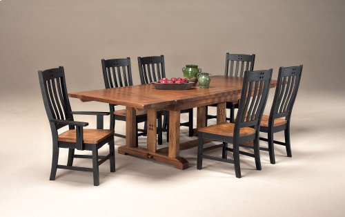 Rustic Mission Curved Slat Side Chair
