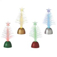 Lighted LED Fiber Optic Tree Mini Shimmer (4 asstd). Product Image