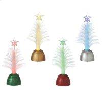 Lighted LED Fiber Optic Tree Mini Shimmer (4 asstd). Product Image
