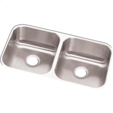 "Dayton Stainless Steel 31-3/4"" x 18-1/4"" x 8"", Equal Double Bowl Undermount Sink"