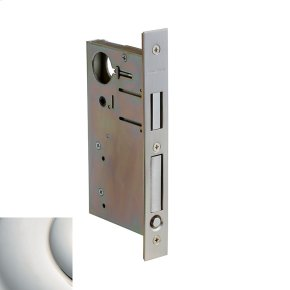 Polished Nickel with Lifetime Finish 8632 Pocket Door Lock with Pull