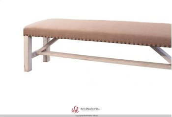 Breakfast & Bedroom Bench - Upholstered Seat 100% Polyester with a linen apearance Product Image