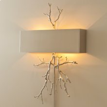 Twig Wall Sconce-Nickel