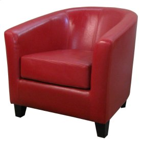 Hayden BONDED Leather Tub Chair, Red