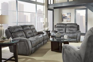 Double Recline Sofa w/ Power Headrest & Dropdown Table