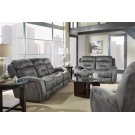 Double Recline Sofa w/ Power Headrest & Dropdown Table Product Image