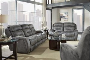 Double Recline Console Sofa with Power Headrest