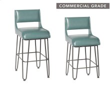 "Dillon Counter Stool Teal 21.5x""17.5""x35.5"""