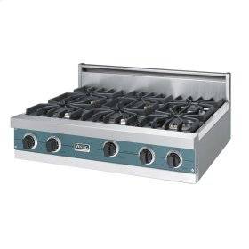 "Iridescent Blue 36"" Sealed Burner Rangetop - VGRT (36"" wide, six burners)"