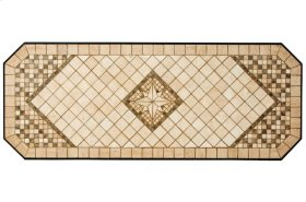 "Basilica 64"" x 25"" Marble Mosaic Sideboard Table Top"