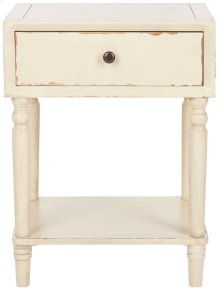 Siobhan Accent Table With Storage Drawer - Vintage Cream