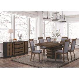 Octavia Rustic Five-piece Dining Set