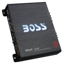 "Riot 1100W Monoblock, Class A/B Amplifier Dimensions 9.13""L 10.44""W 2.25""H"