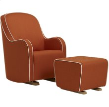 Glider with gentle curves and modern styling.
