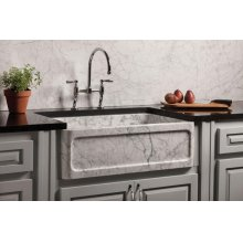 New Haven Farmhouse Sink Carrara Marble