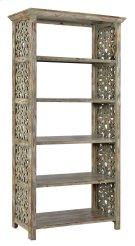 Bengal Manor Mango Wood Carved Side Panel Etagere Product Image