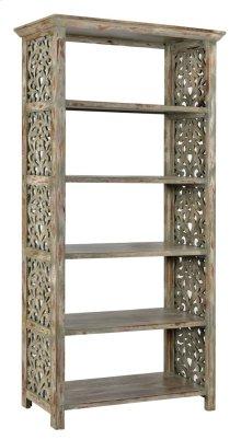 Bengal Manor Mango Wood Carved Side Panel Etagere