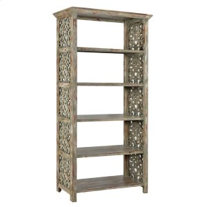 CRESTVIEW COLLECTIONSBengal Manor Mango Wood Carved Side Panel Etagere