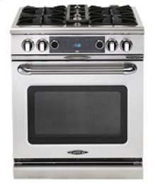 "Connoisseurian 30"" Dual Fuel Self Clean Range"