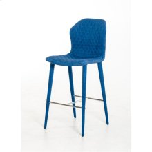 Modrest Astoria Modern Blue Fabric Bar Stool